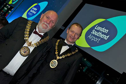 Cllr David Norman (Mayor of Southend) and Cllr Simon Smith (Chair of Rochford District Council)